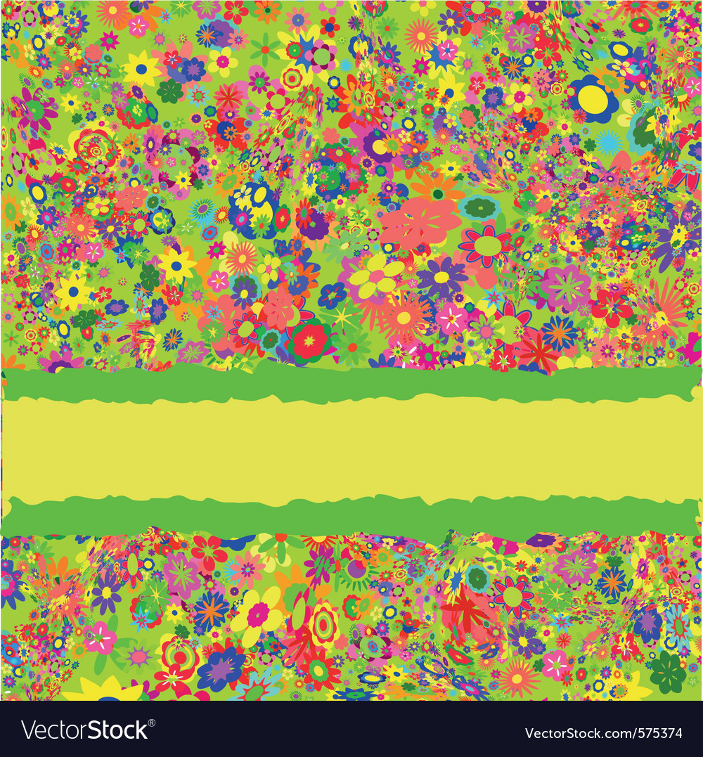 Flower pattern for greeting card