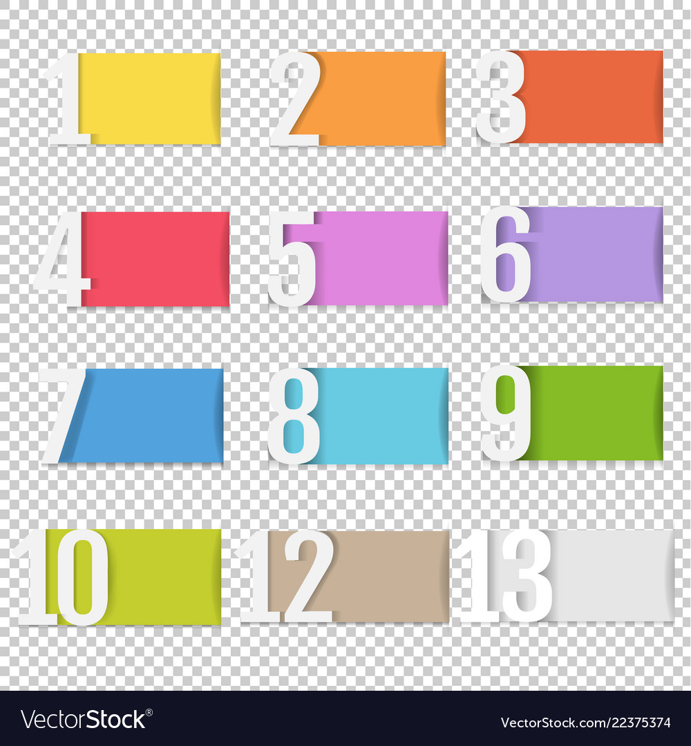 Infographic design template with numbers
