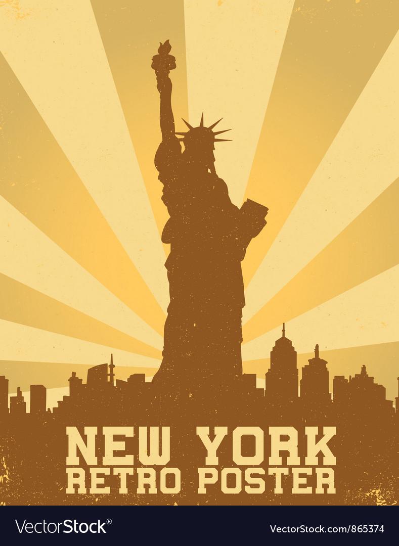 Retro new york background