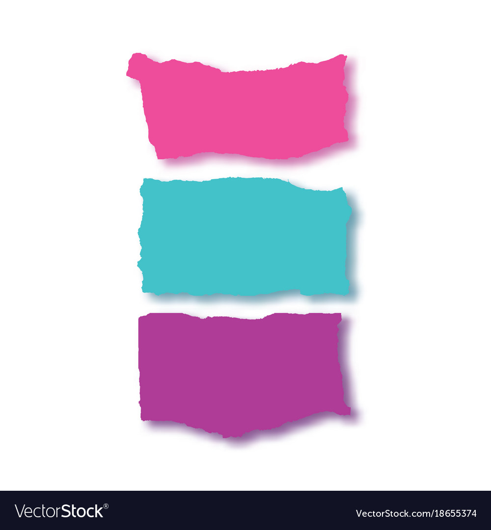rip papercolorful banner set royalty free vector image