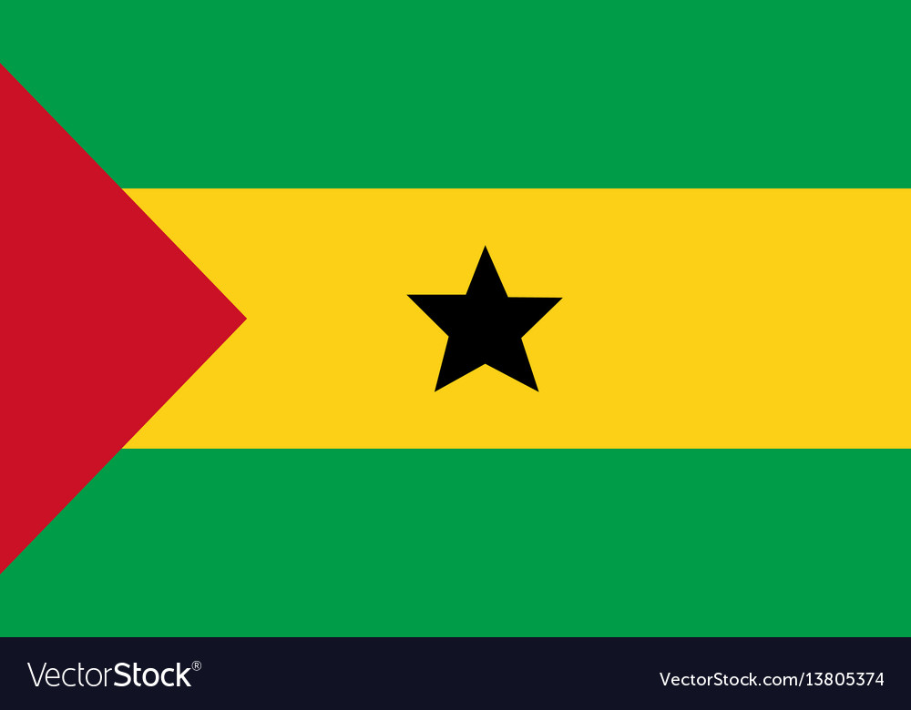 Sao tome and principe flag for independence day vector image
