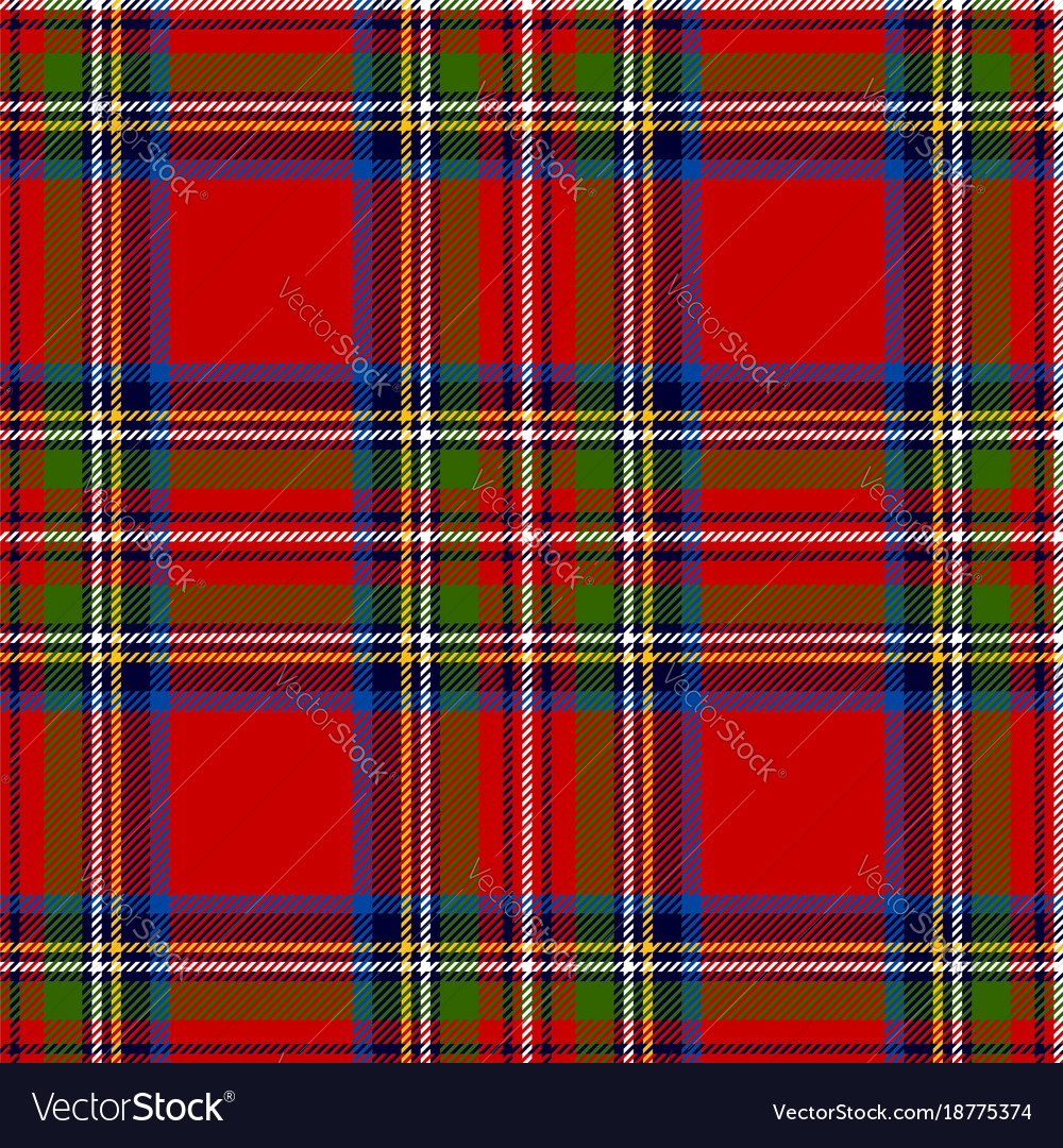 Scottish Plaid Royal Tartan Vector Image