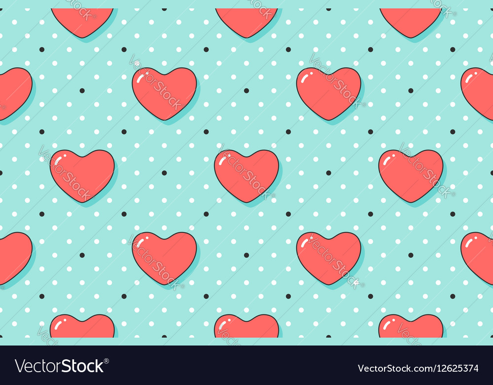 Seamless pattern with hearts and arrows on a