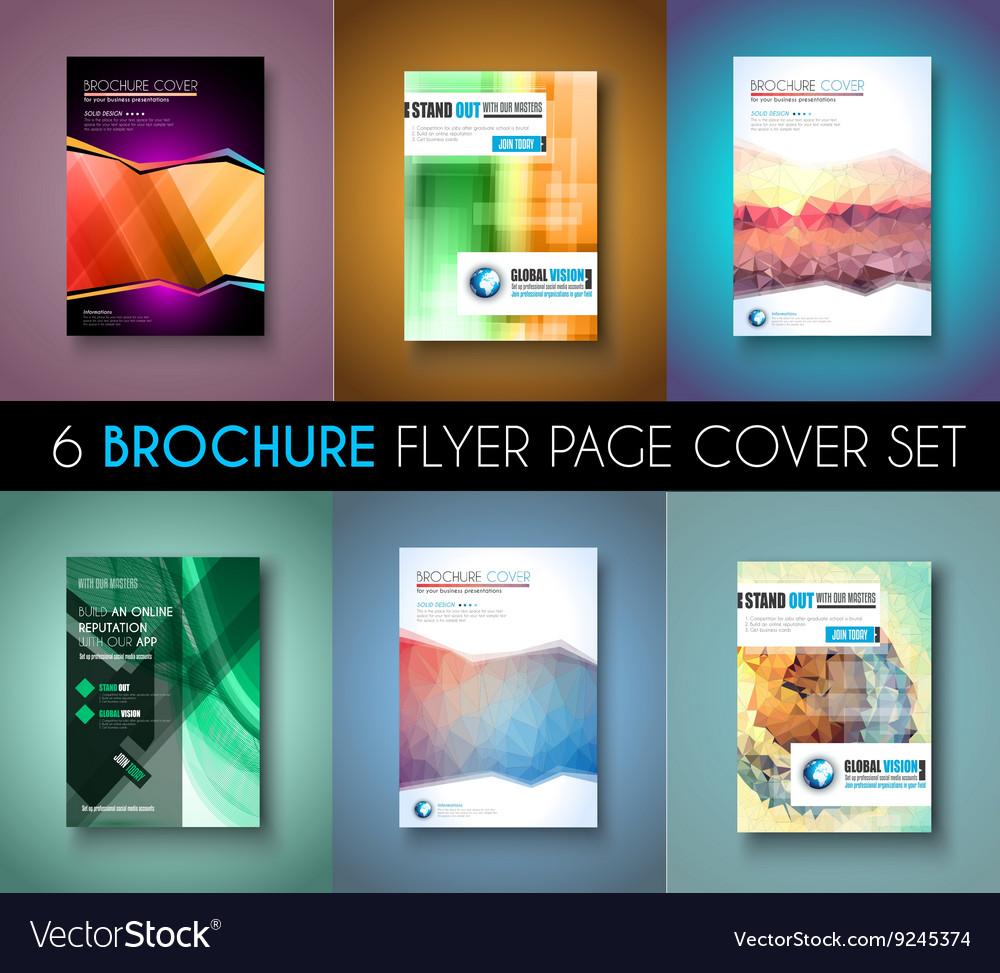 set ofbrochure templates flyer designs or depliant