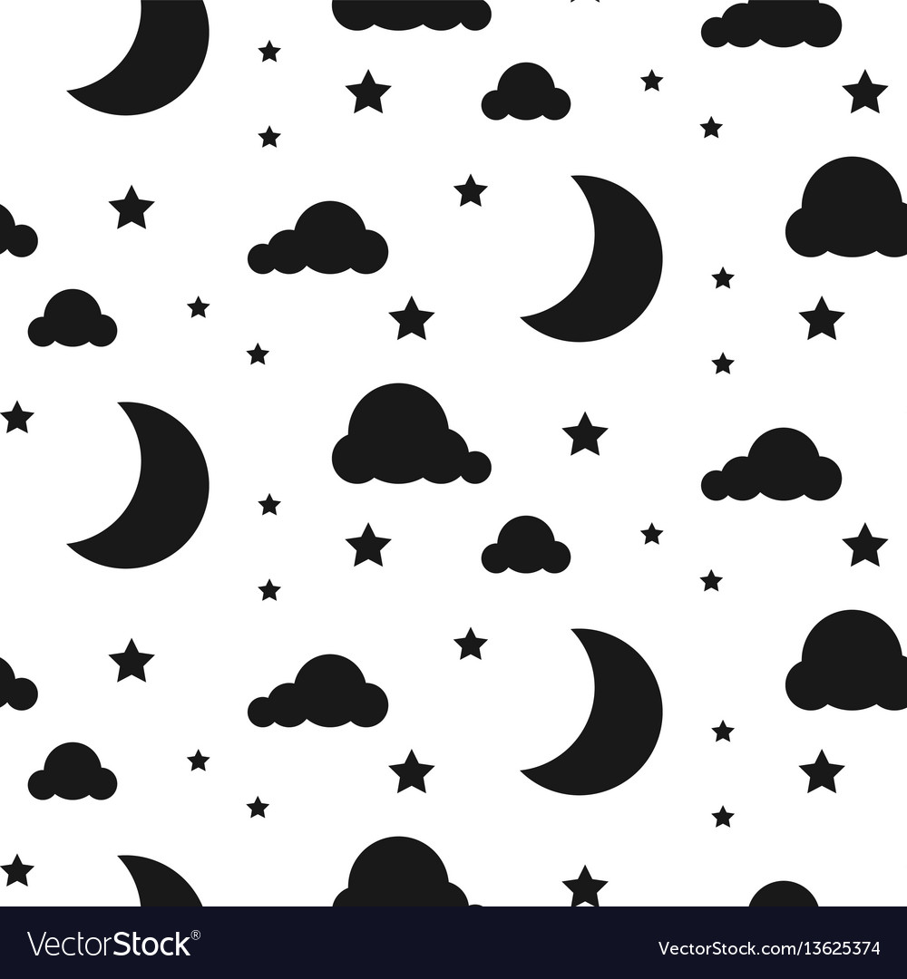 Starlight night seamless pattern