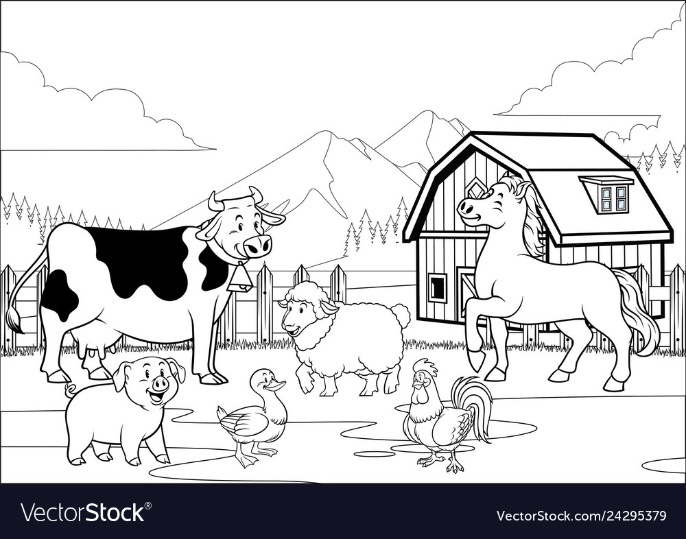 Old farm house coloring pages | 786x1000