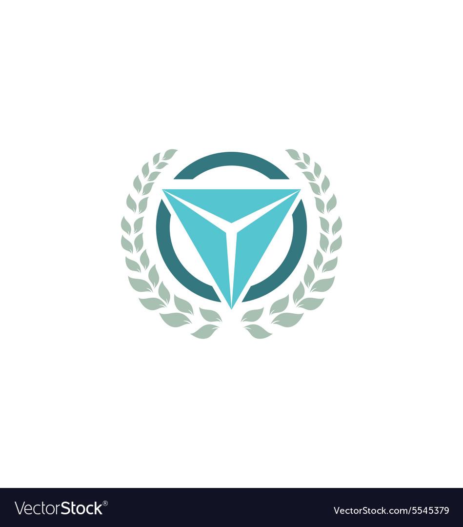 Emblem triangle logo