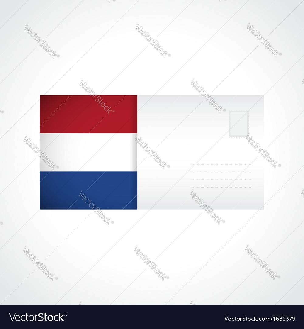 Envelope with Dutch flag card