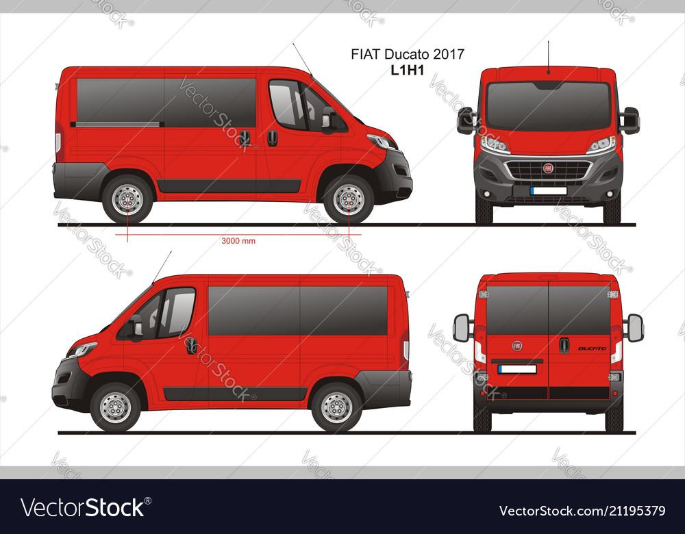 Modne ubrania Fiat ducato passenger van l1h1 Royalty Free Vector Image YQ97