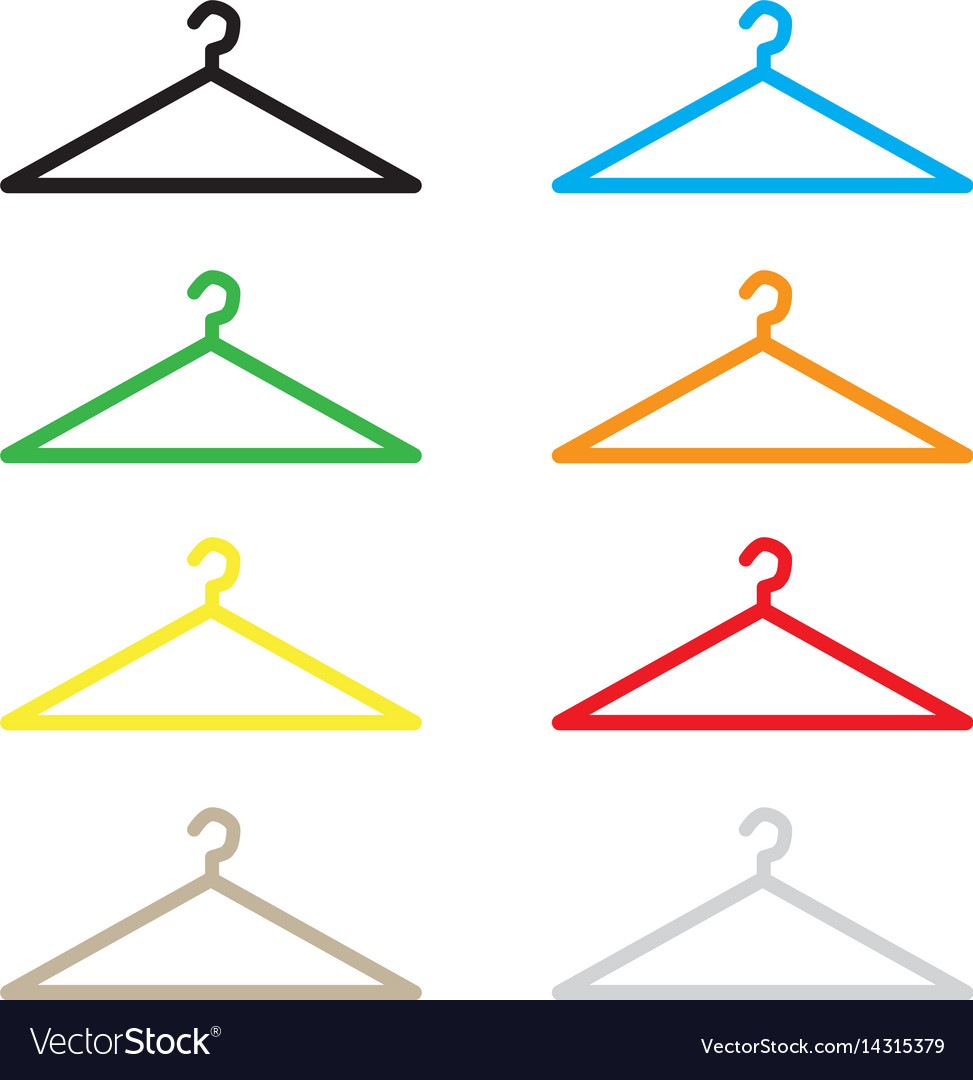 Hanger icon flat design style hanger sign vector image