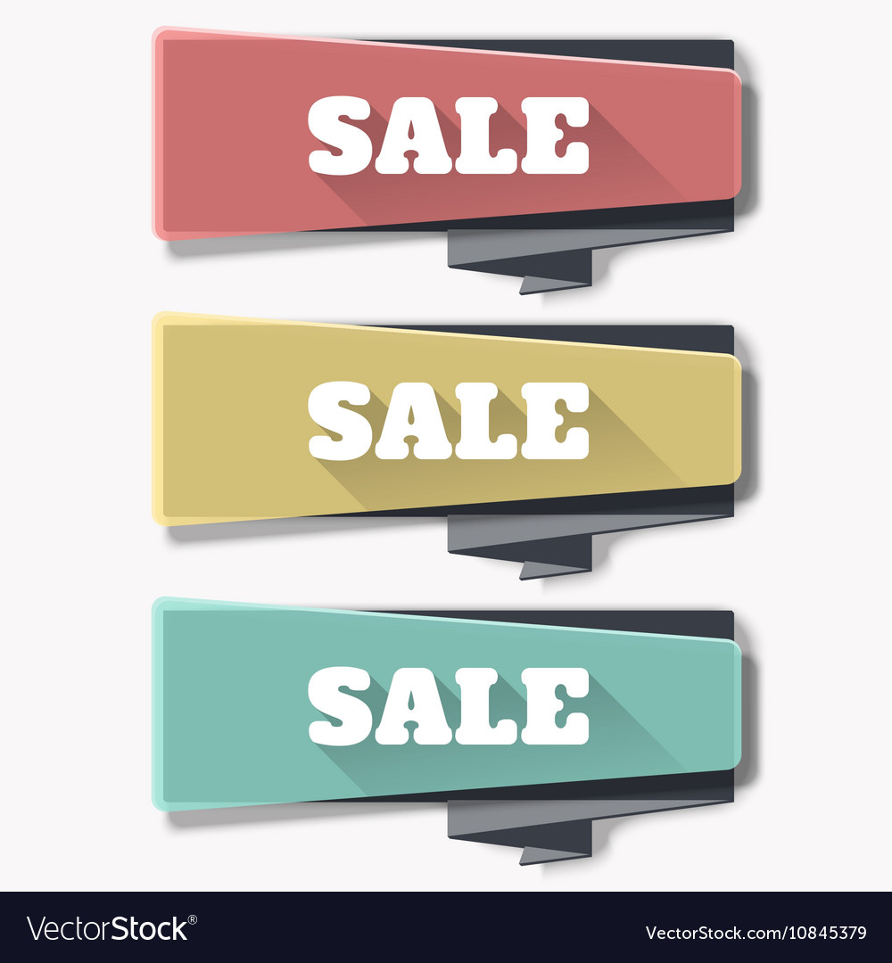 Sale banner template design web banners set