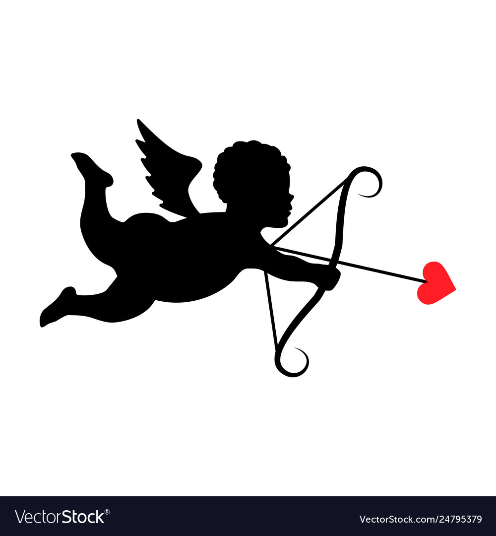 Silhouette cupid