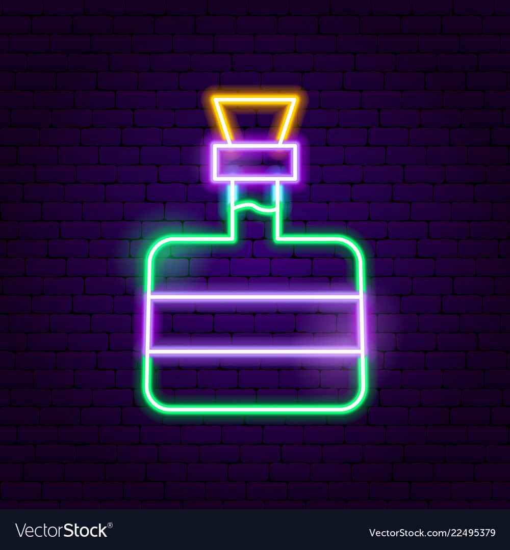 Tequila bottle neon sign