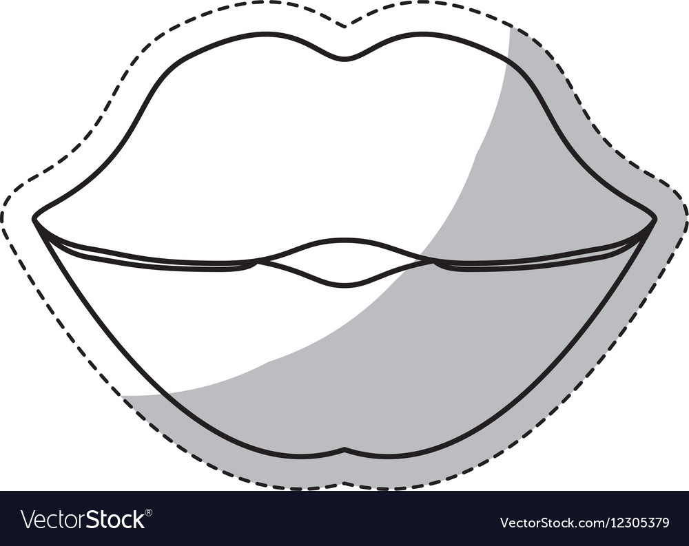 Thick lips icon image vector image