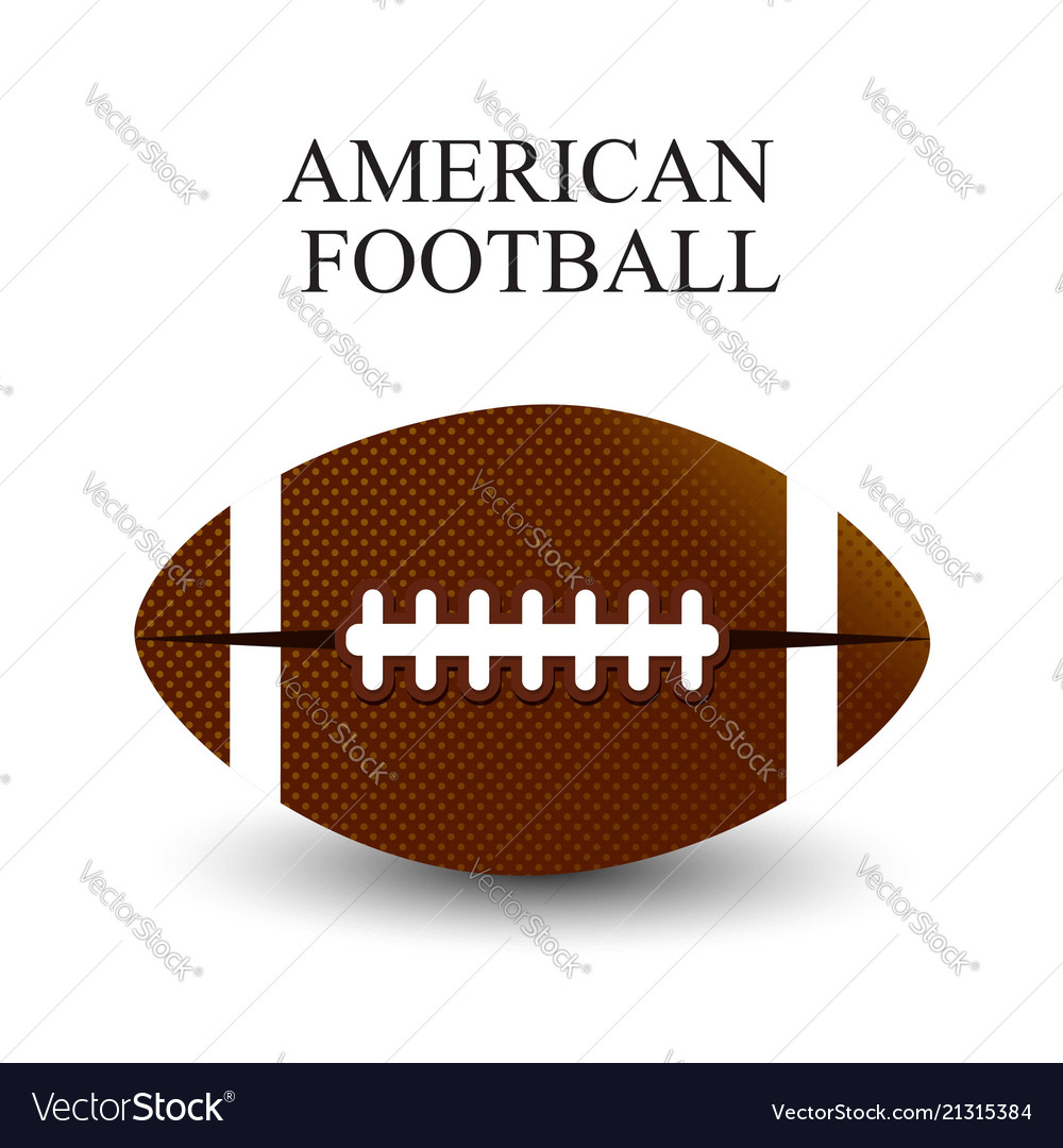 A realistic of an american football on a white
