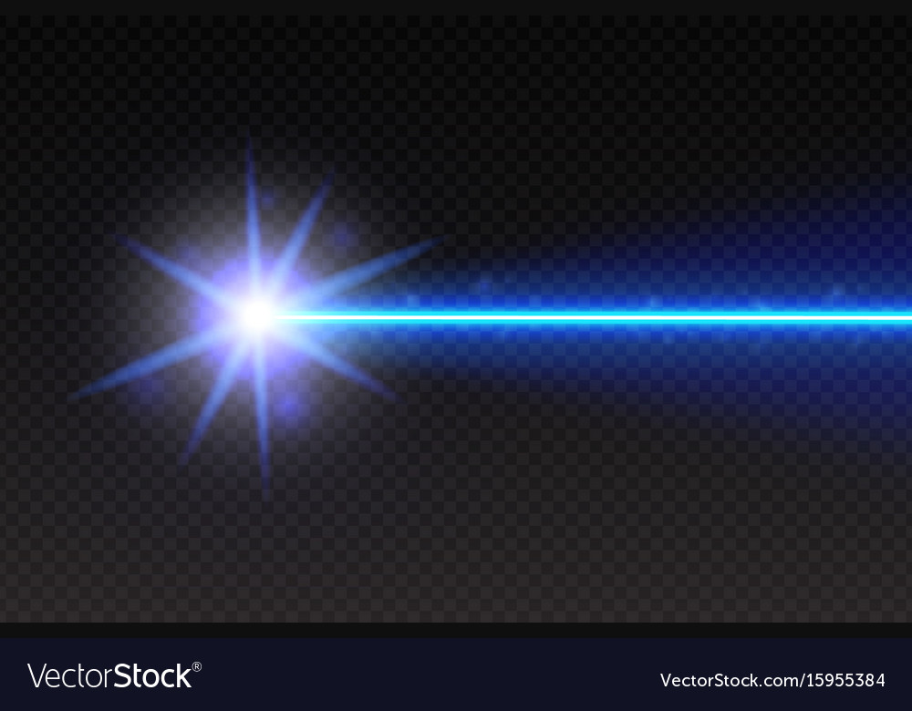 Abstract blue laser beam magic neon light lines vector image