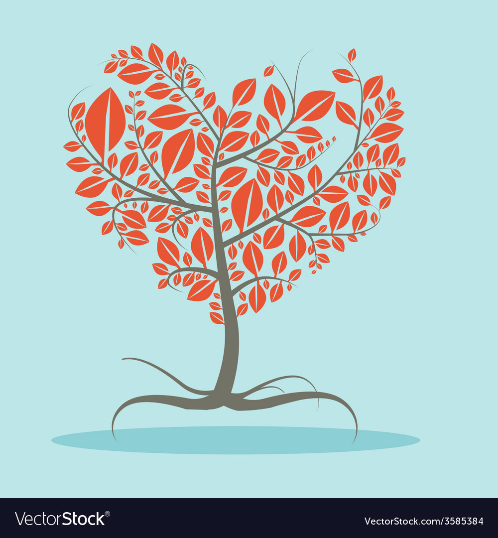 Abstract Flat Design Tree with Roots