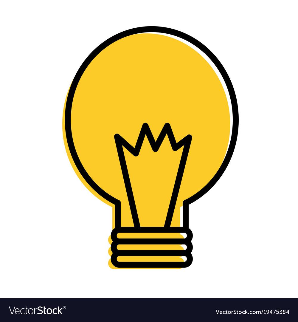 Bulb energy power light icon