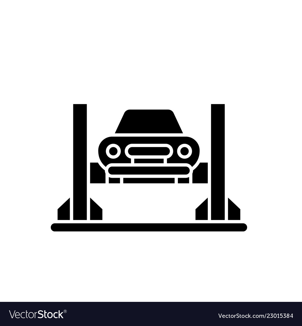 Car Repair Shop Black Icon Sign On Royalty Free Vector Image