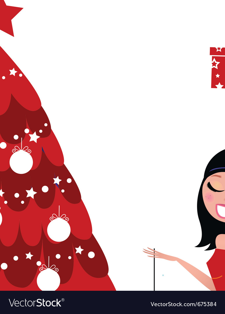 Christmas party - girls preparing christmas tree