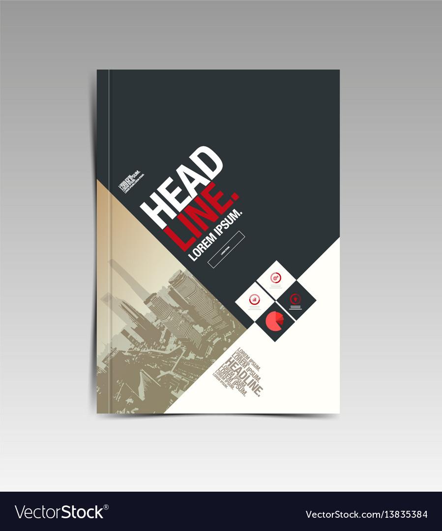 Flyer brochure design template abstract