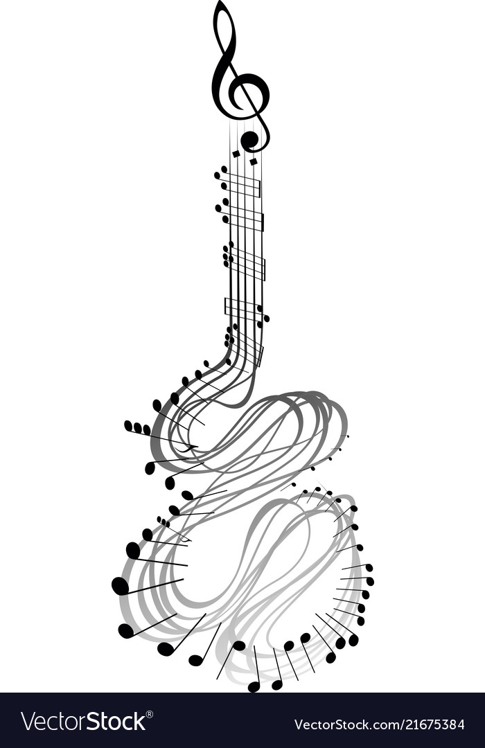 Guitar music notes