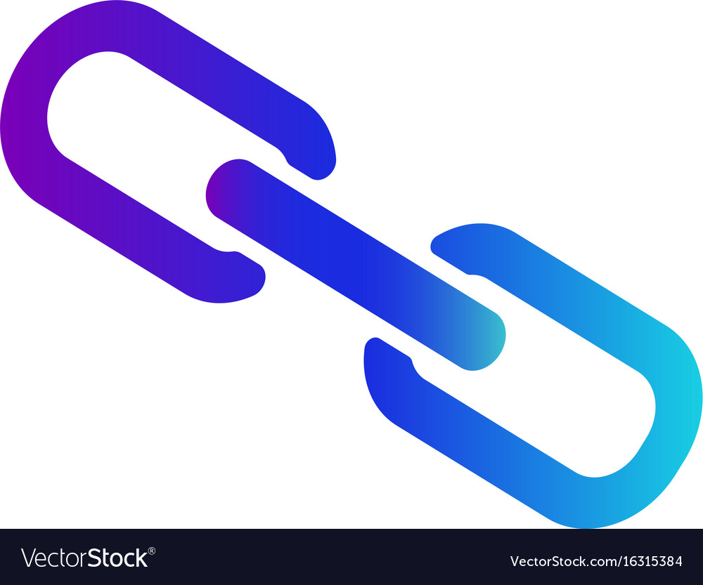 Icon links or hyperlinks internet sign