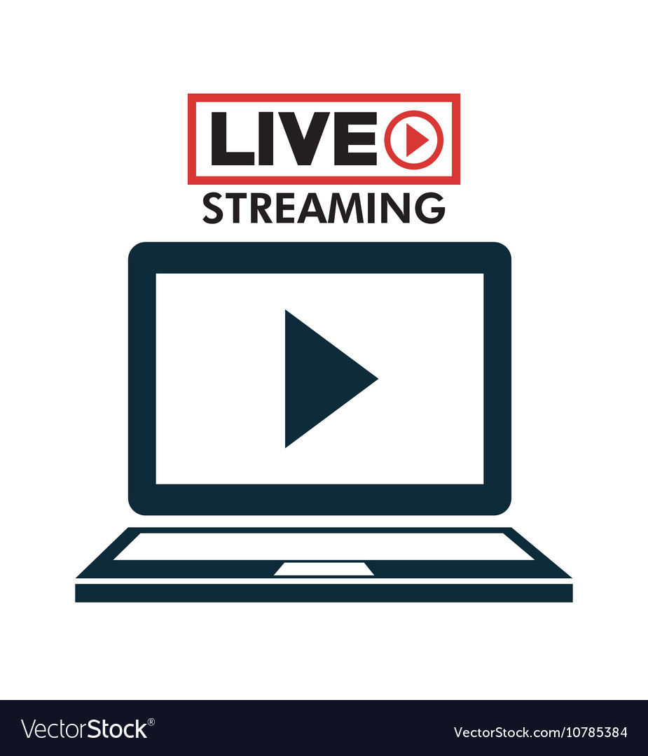Laptop live streaming play multimedia