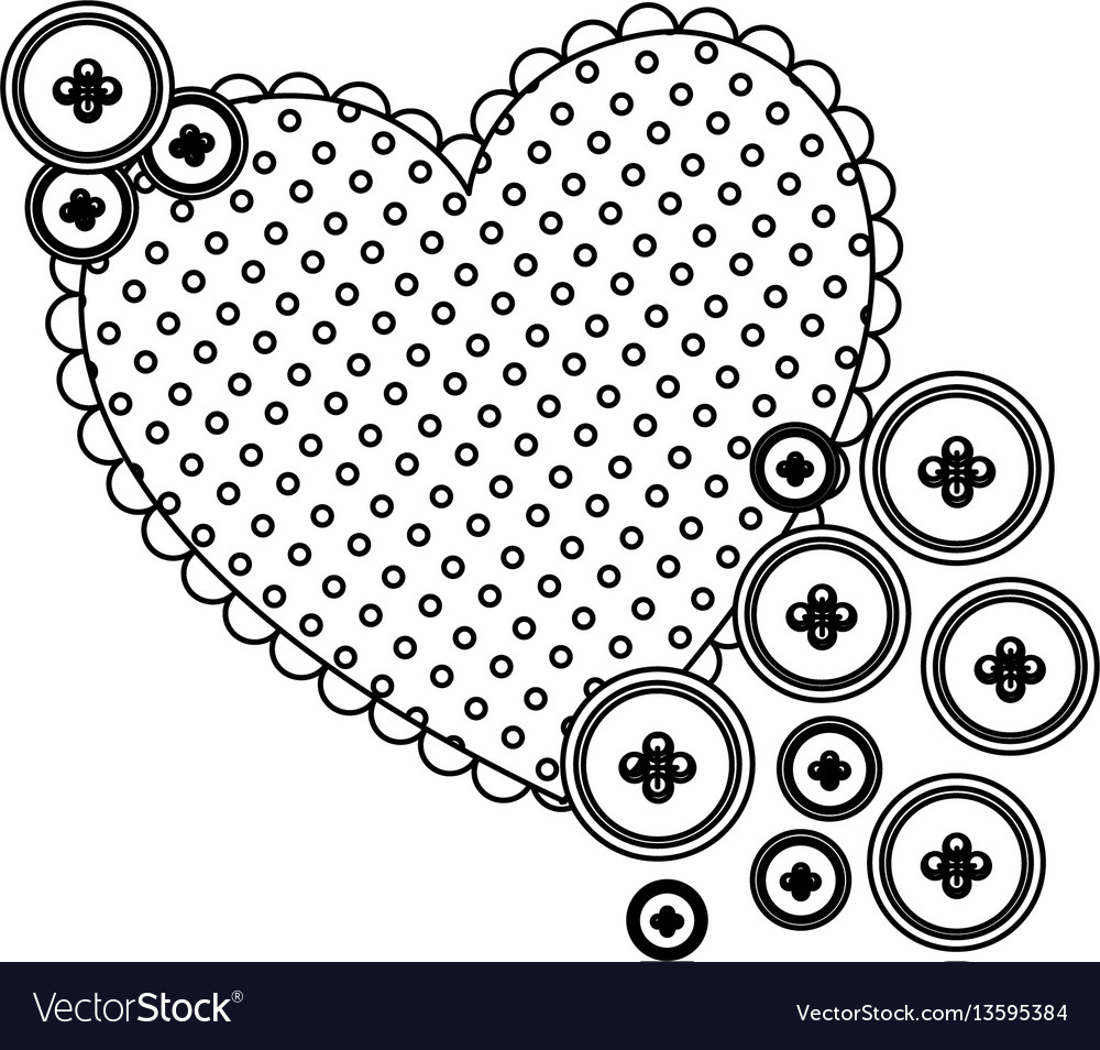 Silhouette heart with bubbles icon