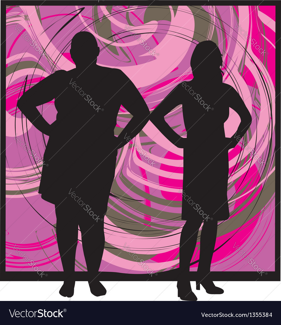 Two Women vector image