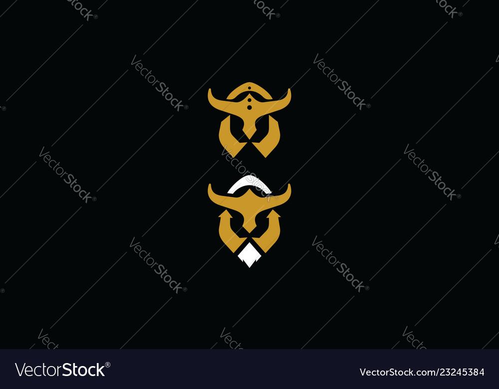 Warrior helmet logo icon