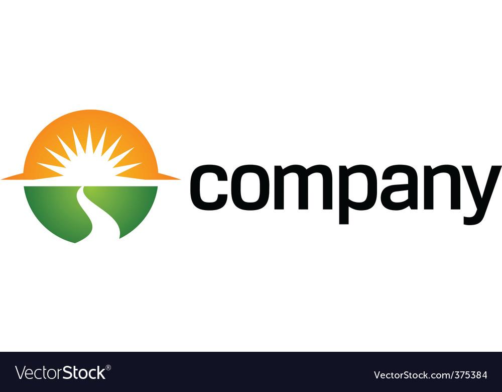 Way to sun logo organization vector image