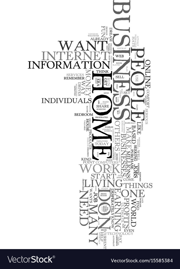 Work at home text word cloud concept