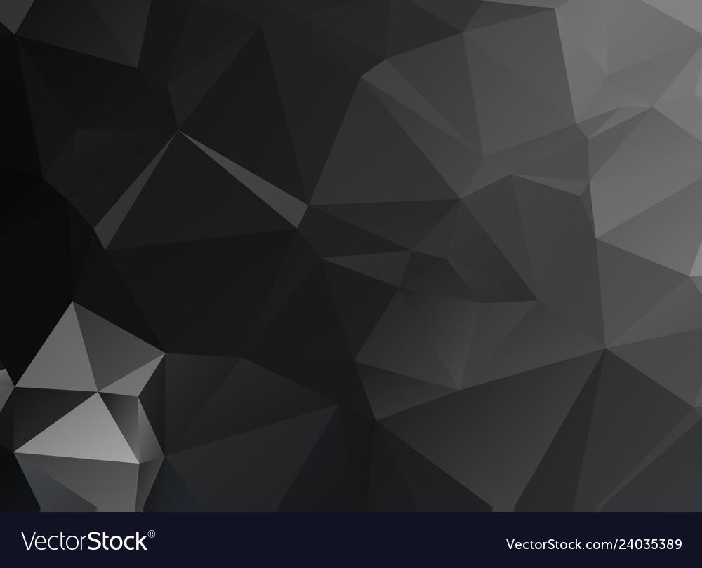 Black polygonal mosaic background geometric