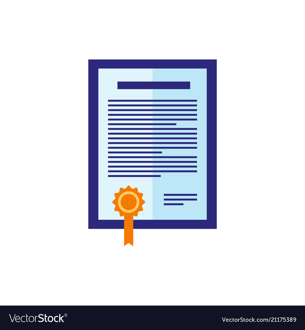 Flat certificate icon