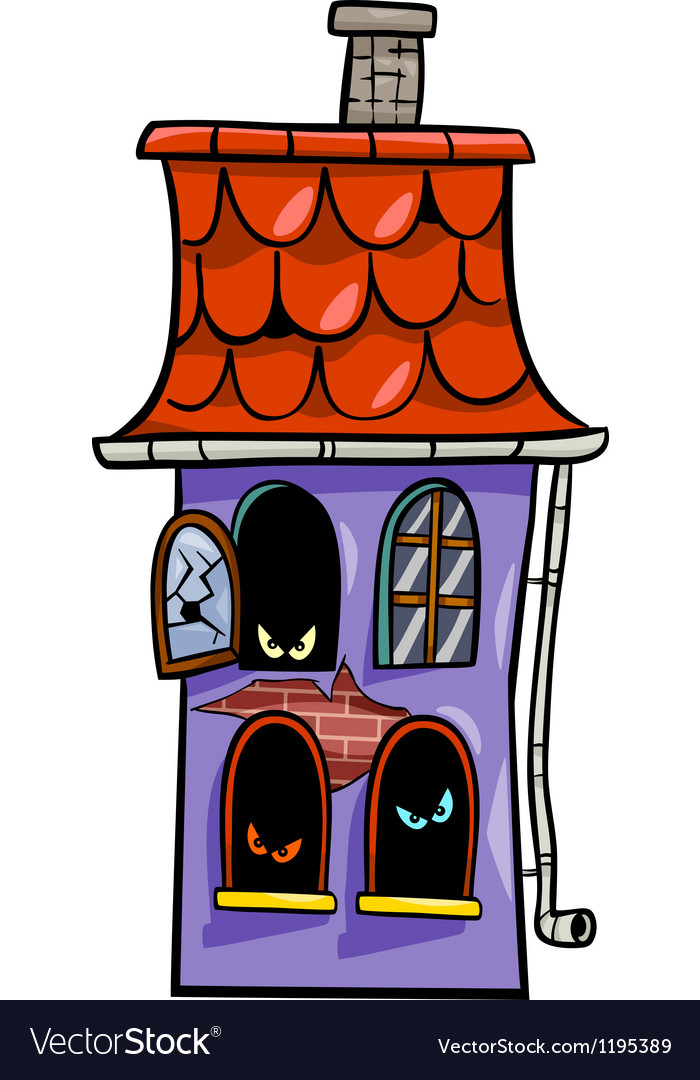 Haunted house cartoon
