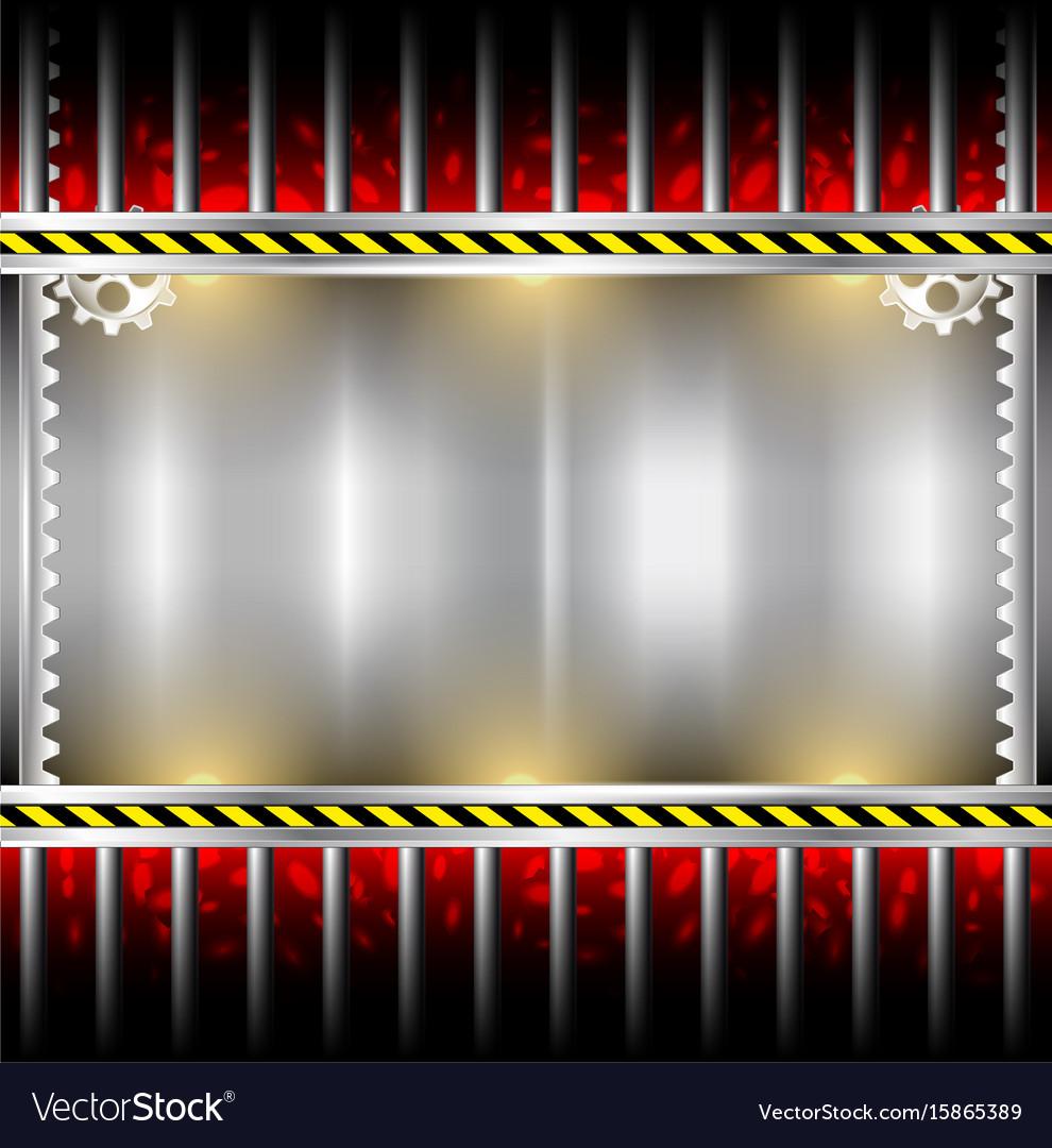 Industrial background metal frame