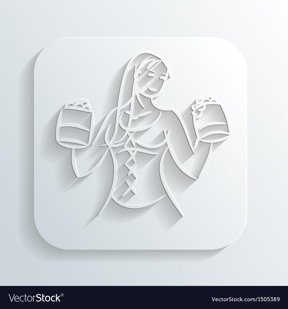 Oktoberfest woman icon