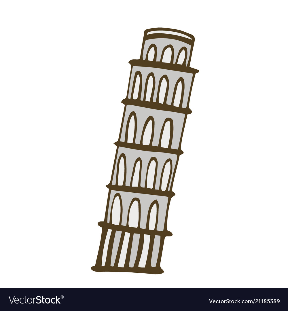 Tower of pisa isolated on