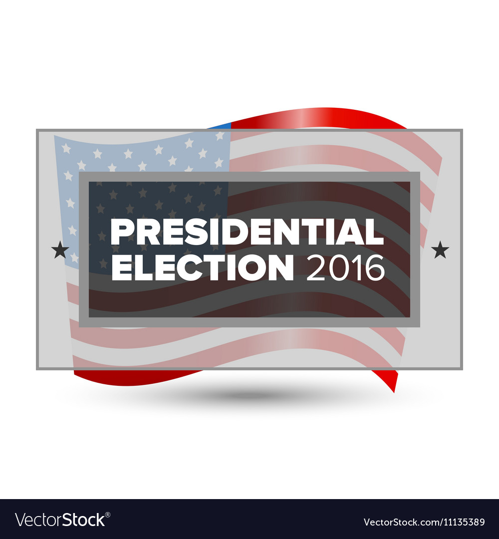 USA presidential election poster
