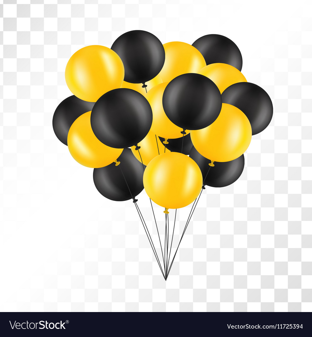 Balloons on transparent background Bunch of