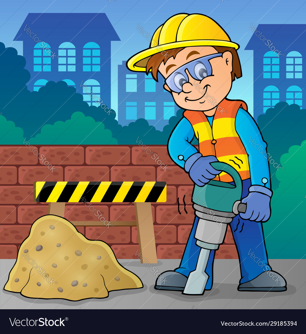 Construction worker theme image 8
