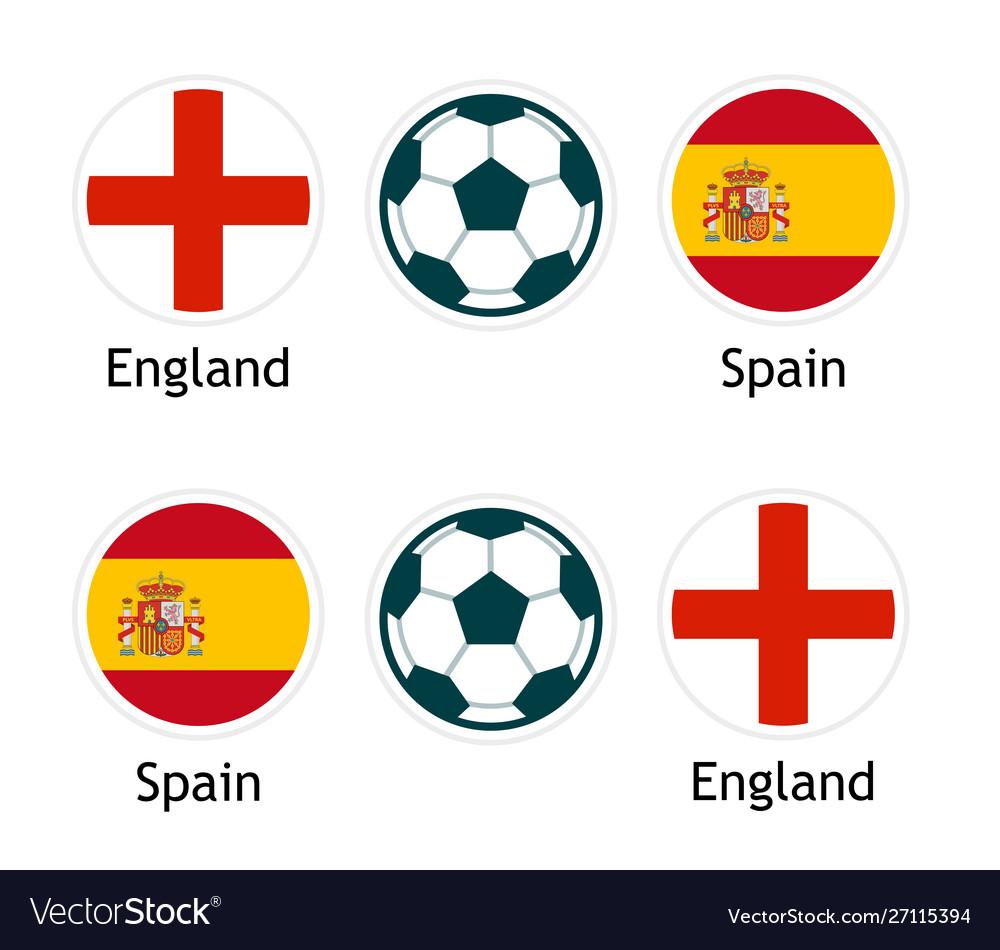 England versus spain - banner for soccer