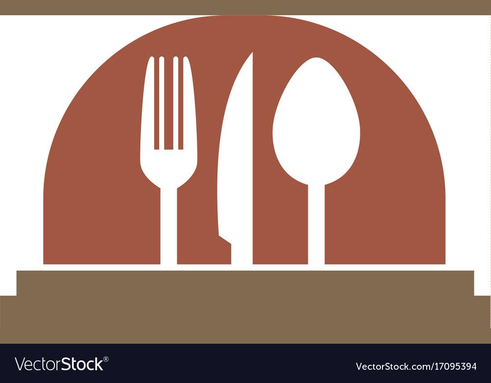 Food serve cooking logo
