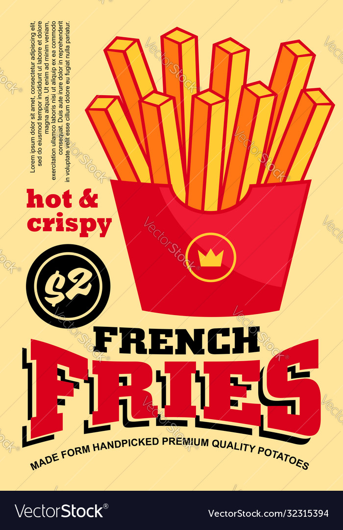 French fries banner design