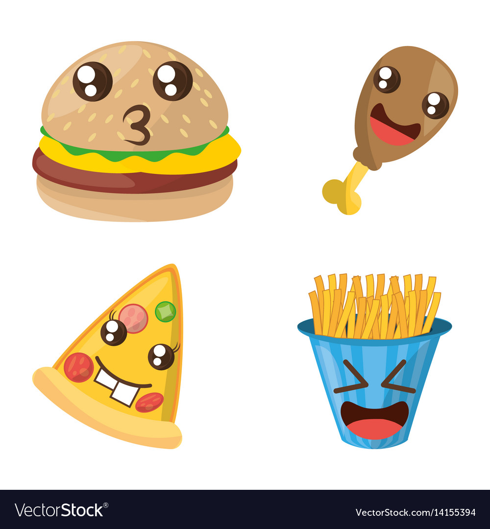 Kawaii fast food funny set