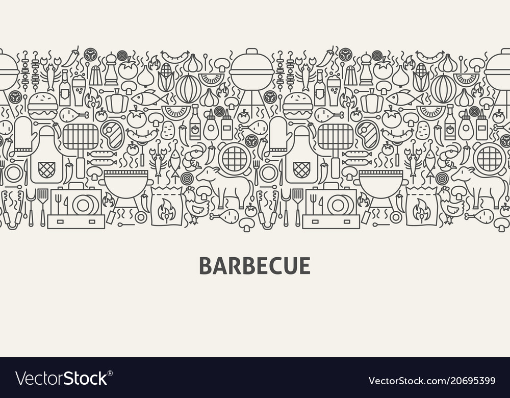 Barbecue banner concept
