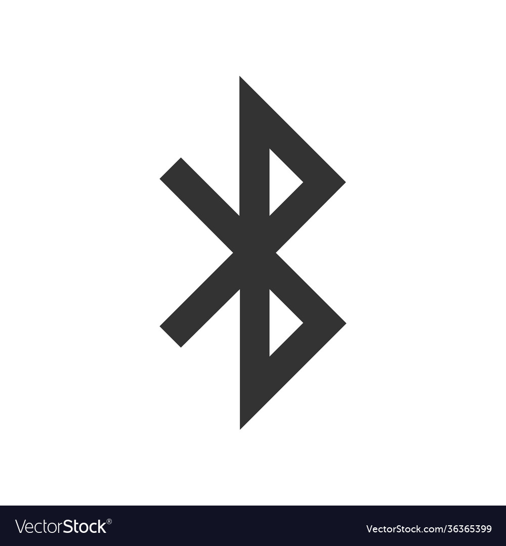 Bluetooth sign icon mobile network symbol for