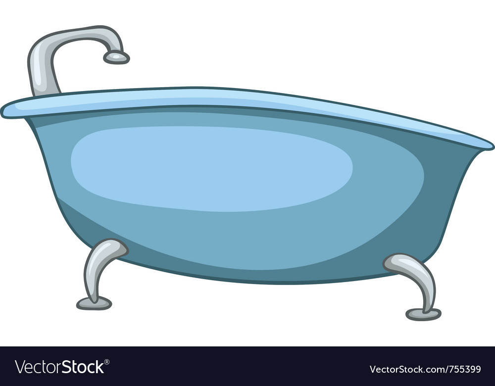 Cartoon home washroom tub Royalty Free Vector Image