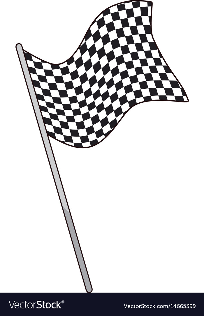 Flag start sport victory finish symbol vector image